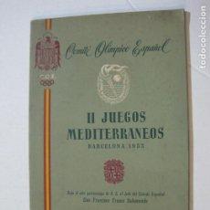 Coleccionismo deportivo: JUEGOS OLIMPICOS-BARCELONA 1955-II JUEGOS MEDITERRANEOS-PROGRAMA BALONCESTO-VER FOTOS-(K-798). Lote 221950862