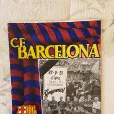Coleccionismo deportivo: C..F BARCELONA 3 DE JUNIO DE 1951. Lote 221982813