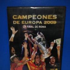 Coleccionismo deportivo: DVD F. C. BARCELONA CAMPEONES DE EUROPA, LA FINAL DE ROMA 2009.. Lote 222076343