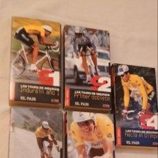 Coleccionismo deportivo: 5 CINTAS VHS LOS TOURS DE INDURAIN EL PAÍS AÑOS 1991-92-93-94 Y 95. Lote 222366155
