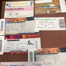 Coleccionismo deportivo: 7 ENTRADAS DE BASKET O BALONCESTO FC BARCELONA, FINAL Y SEMIFINAL ACB EUROLEAGUE JOVENTUT BADALONA. Lote 184539257