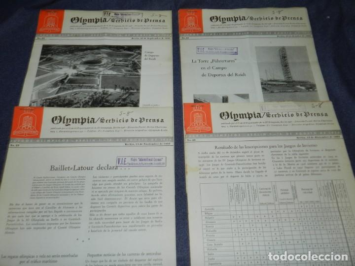 Coleccionismo deportivo: (M) INCREIBLE DOCUMENTACIÓN XI JUEGOS OLIMPICOS DE BERLIN 1936 (ORIGINAL) OLYMPIADE BERLIN - Foto 3 - 223326691