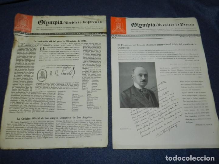 Coleccionismo deportivo: (M) INCREIBLE DOCUMENTACIÓN XI JUEGOS OLIMPICOS DE BERLIN 1936 (ORIGINAL) OLYMPIADE BERLIN - Foto 9 - 223326691