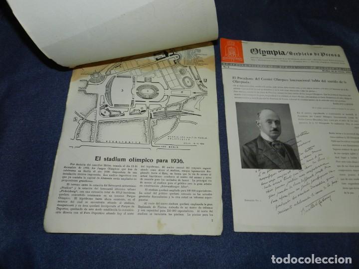 Coleccionismo deportivo: (M) INCREIBLE DOCUMENTACIÓN XI JUEGOS OLIMPICOS DE BERLIN 1936 (ORIGINAL) OLYMPIADE BERLIN - Foto 10 - 223326691