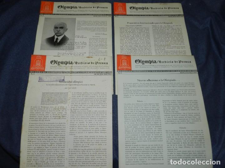 Coleccionismo deportivo: (M) INCREIBLE DOCUMENTACIÓN XI JUEGOS OLIMPICOS DE BERLIN 1936 (ORIGINAL) OLYMPIADE BERLIN - Foto 11 - 223326691