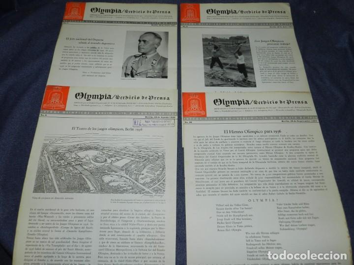 Coleccionismo deportivo: (M) INCREIBLE DOCUMENTACIÓN XI JUEGOS OLIMPICOS DE BERLIN 1936 (ORIGINAL) OLYMPIADE BERLIN - Foto 14 - 223326691