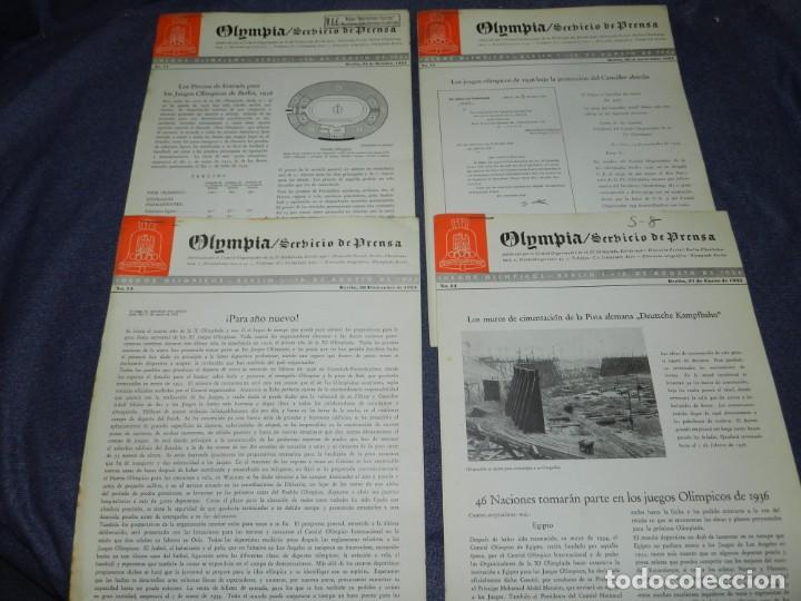 Coleccionismo deportivo: (M) INCREIBLE DOCUMENTACIÓN XI JUEGOS OLIMPICOS DE BERLIN 1936 (ORIGINAL) OLYMPIADE BERLIN - Foto 16 - 223326691