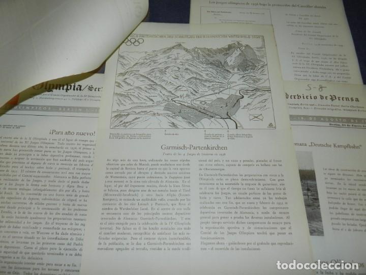 Coleccionismo deportivo: (M) INCREIBLE DOCUMENTACIÓN XI JUEGOS OLIMPICOS DE BERLIN 1936 (ORIGINAL) OLYMPIADE BERLIN - Foto 17 - 223326691