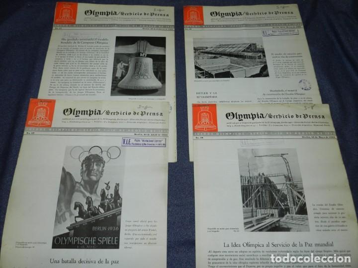 Coleccionismo deportivo: (M) INCREIBLE DOCUMENTACIÓN XI JUEGOS OLIMPICOS DE BERLIN 1936 (ORIGINAL) OLYMPIADE BERLIN - Foto 18 - 223326691