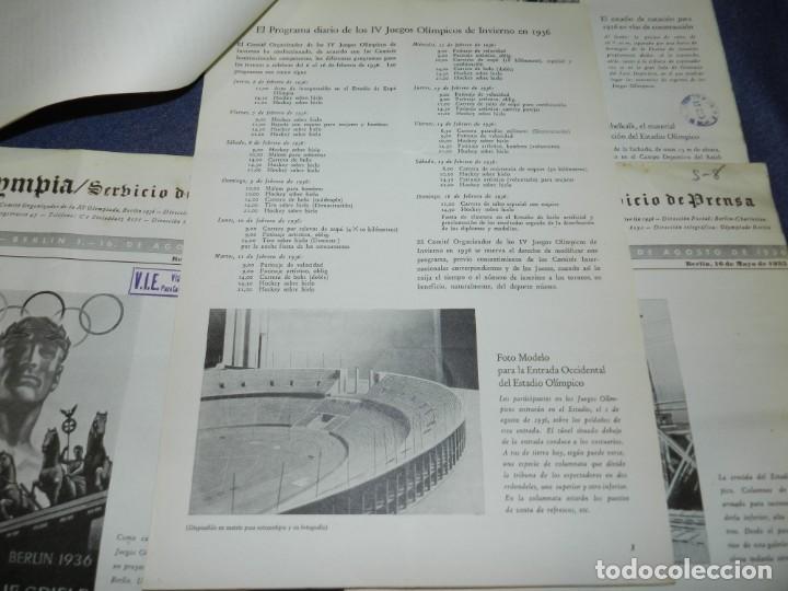 Coleccionismo deportivo: (M) INCREIBLE DOCUMENTACIÓN XI JUEGOS OLIMPICOS DE BERLIN 1936 (ORIGINAL) OLYMPIADE BERLIN - Foto 19 - 223326691