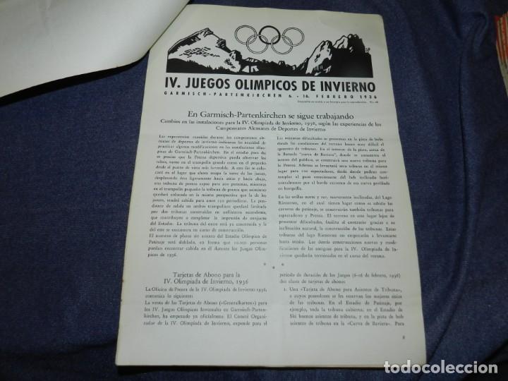 Coleccionismo deportivo: (M) INCREIBLE DOCUMENTACIÓN XI JUEGOS OLIMPICOS DE BERLIN 1936 (ORIGINAL) OLYMPIADE BERLIN - Foto 20 - 223326691
