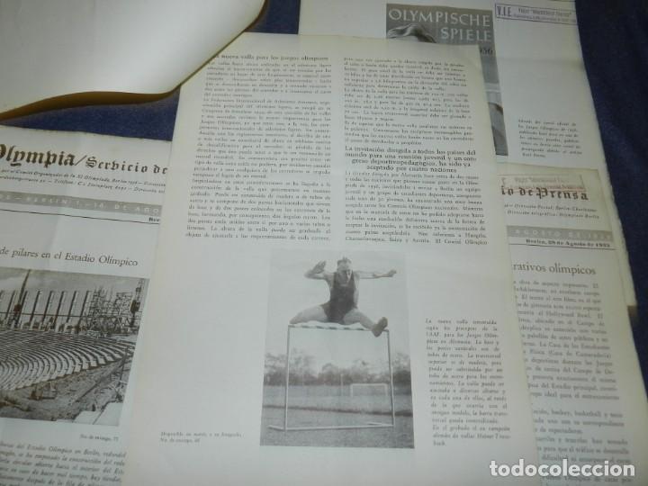 Coleccionismo deportivo: (M) INCREIBLE DOCUMENTACIÓN XI JUEGOS OLIMPICOS DE BERLIN 1936 (ORIGINAL) OLYMPIADE BERLIN - Foto 23 - 223326691
