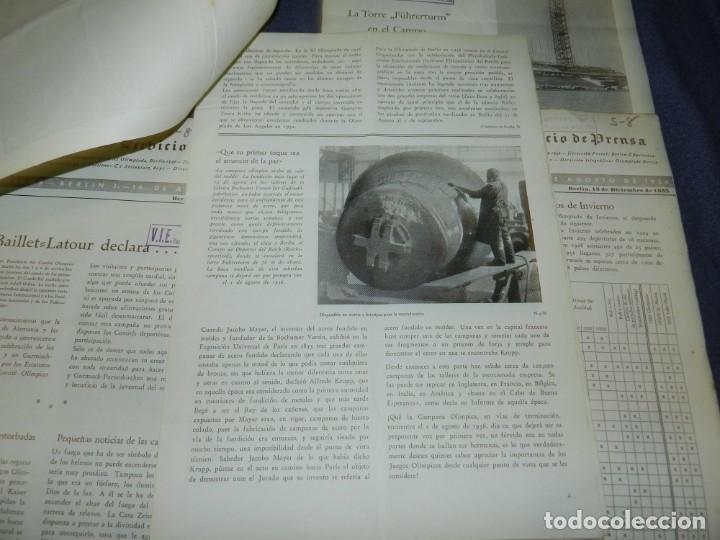 Coleccionismo deportivo: (M) INCREIBLE DOCUMENTACIÓN XI JUEGOS OLIMPICOS DE BERLIN 1936 (ORIGINAL) OLYMPIADE BERLIN - Foto 25 - 223326691