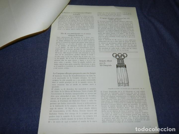 Coleccionismo deportivo: (M) INCREIBLE DOCUMENTACIÓN XI JUEGOS OLIMPICOS DE BERLIN 1936 (ORIGINAL) OLYMPIADE BERLIN - Foto 26 - 223326691