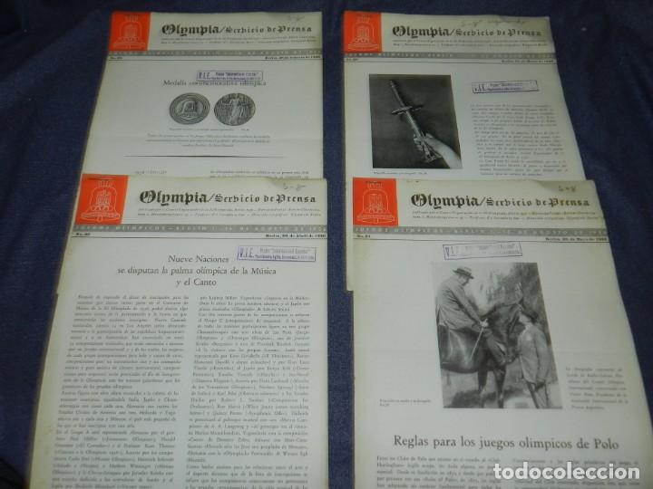 Coleccionismo deportivo: (M) INCREIBLE DOCUMENTACIÓN XI JUEGOS OLIMPICOS DE BERLIN 1936 (ORIGINAL) OLYMPIADE BERLIN - Foto 27 - 223326691