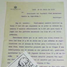Coleccionismo deportivo: DOCUMENTO CELTA DE VIGO - VIGO SPORTING CLUB 1914 - FIRMADO POR EL PRESIDENTE. Lote 223442713