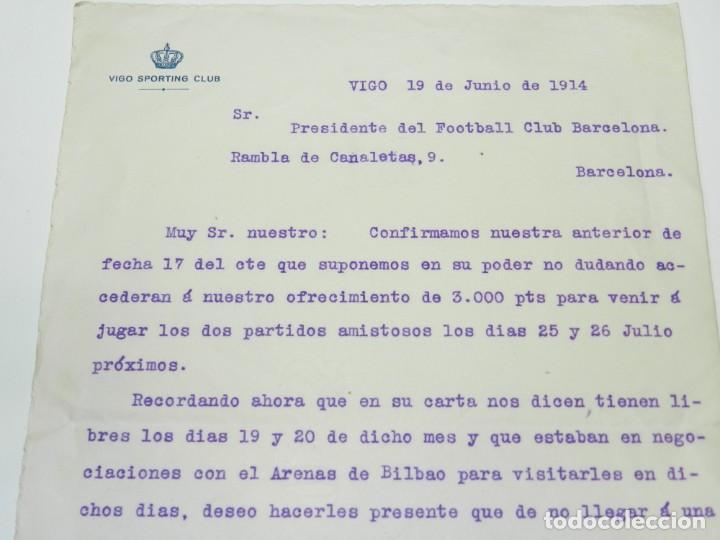 Coleccionismo deportivo: DOCUMENTO CELTA DE VIGO - VIGO SPORTING CLUB 1914 - FIRMADO POR EL PRESIDENTE - Foto 2 - 223442713