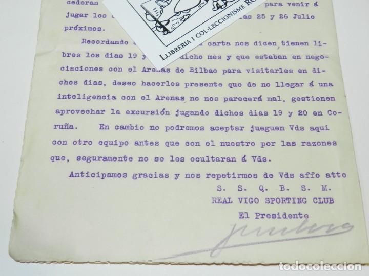 Coleccionismo deportivo: DOCUMENTO CELTA DE VIGO - VIGO SPORTING CLUB 1914 - FIRMADO POR EL PRESIDENTE - Foto 3 - 223442713