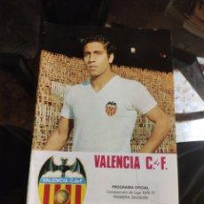 Colecionismo desportivo: PROGRAMA OFICIAL VALENCIA C.F. CAMPEONATO DE LIGA 1976-77 (CF BARCELONA - VALENCIA CF) (10-04-1977). Lote 224262420