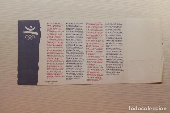 Coleccionismo deportivo: ENTRADA OLIMPIADAS DE BARCELONA 1992, ATLETISMO - Foto 2 - 226269803