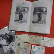 Coleccionismo deportivo: GOLF. LOTE CARNETS Y VARIOS. ANTIGUO GOLFISTA PROFESIONAL ESPAÑOL. Lote 226480580