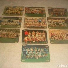 Coleccionismo deportivo: LA QUINIELA DE LA SUERTE. LOTE DE 10 EQUIPOS DE FUTBOL.. Lote 226766350