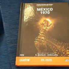 Coleccionismo deportivo: LIBRO DVD PELÍCULA OFICIAL FIFA MUNDIAL MEXICO 1970 BRASIL PELE WORLD CUP LEGENDS RONALDO BAGGIO. Lote 228856590
