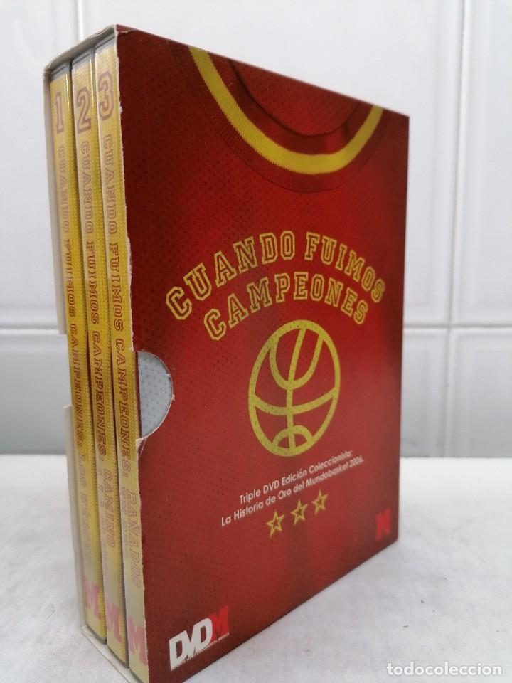 CUANDO FUIMOS CAMPEONES 3 DVD'S DEL ORO MUNDOBASKET 2006 EN DVD - P.V.P. 30€ (Coleccionismo Deportivo - Documentos de Deportes - Otros)