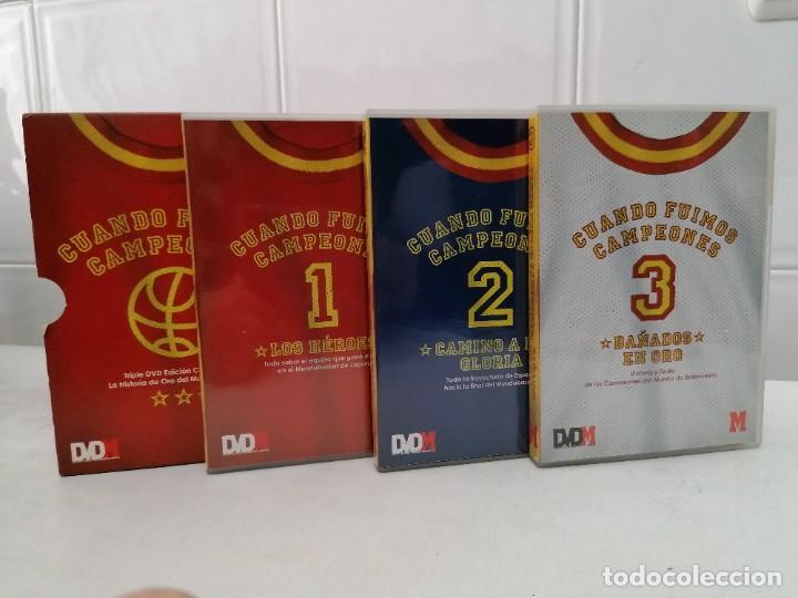 Coleccionismo deportivo: CUANDO FUIMOS CAMPEONES 3 DVDS DEL ORO MUNDOBASKET 2006 en DVD - P.V.P. 30€ - Foto 3 - 230438665