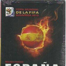 Coleccionismo deportivo: 2 DVD ESPAÑA SUIZA Y HONDURAS.MUNDIAL SUDAFRICA 2010.SELLADOS.. Lote 230504395