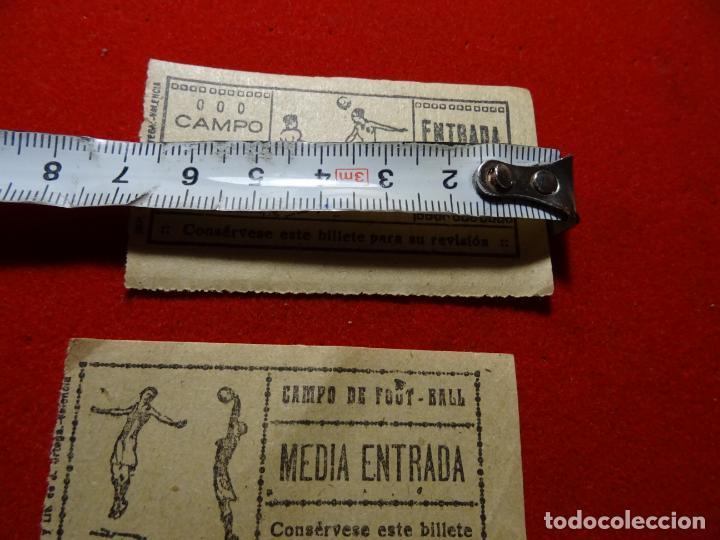 Coleccionismo deportivo: dos entradas futbol, años 1930-40. Valencia - Foto 2 - 230558770