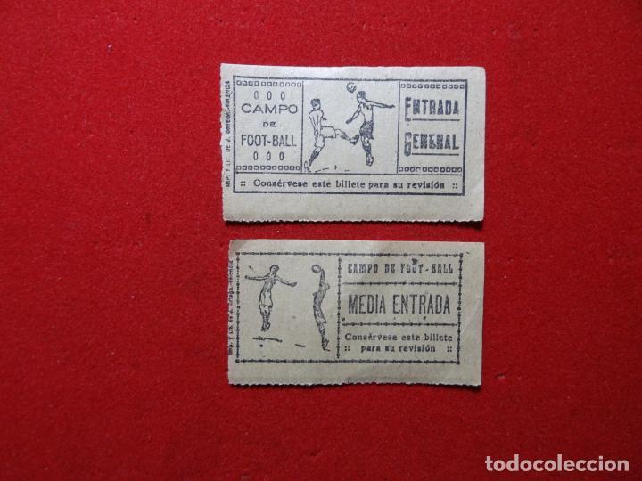 DOS ENTRADAS FUTBOL, AÑOS 1930-40. VALENCIA (Coleccionismo Deportivo - Documentos de Deportes - Otros)