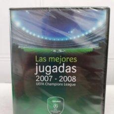 Coleccionismo deportivo: LAS MEJORES JUGADAS 2007-2008 CHAMPIONS LEAGUE -DVD NUEVO PRECINTADO. Lote 230599645