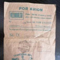 Coleccionismo deportivo: ANTIGUO SOBRE RIFA A FAVOR DEL CLUB ATLETICO DE TETUAN. 13 DE AGOSTO DE 1955.. Lote 231082995