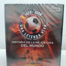 Coleccionismo deportivo: 1928 2008 UNA LEYENDA VIVA - 1950 1955 DI STEFANO CONTRA KUBALA - DVD PRECINTADO - MARCA. Lote 232144980