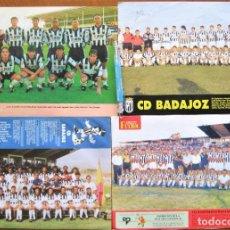 Collectionnisme sportif: LOTE 4 POSTER / S EQUIPOS CD BADAJOZ 22 X 29 CM ORIGINAL REVISTA BUEN ESTADO BAD72. Lote 232439022