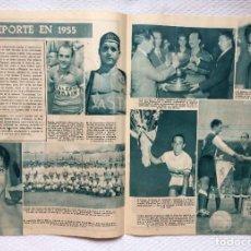 Coleccionismo deportivo: ARTÍCULO: EL DEPORTE EN 1955 (REAL MADRID, FRED GALIANA, TIMONER, POBLET...) ABC, 1955 ¡ORIGINAL!. Lote 233551580