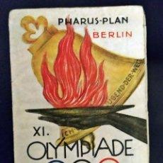 Coleccionismo deportivo: 1936. OLIMPIADAS DE BERLIN. PLANO ORIGINAL DE LA ÉPOCA. 62 X 31 CM.. Lote 234166660