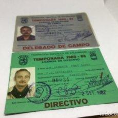 Coleccionismo deportivo: FEDERACION ESPAÑOLA DE BALONMANO - CARNET DELEGADO DE CAMPO Y DE DIRECTIVO - TEMPORADAS 80-81-82-83. Lote 234429415
