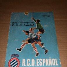 Coleccionismo deportivo: REVISTA FÚTBOL ESPAÑOL DE BARCELONA REAL ZARAGOZA ABRIL 1962. Lote 234429730