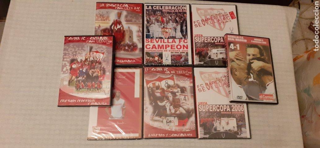8 DVD DEL SEVILLA F.C , 6 DE ELLOS PRECINTADOS (Coleccionismo Deportivo - Documentos de Deportes - Otros)