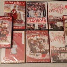 Coleccionismo deportivo: 8 DVD DEL SEVILLA F.C , 6 DE ELLOS PRECINTADOS. Lote 235356785