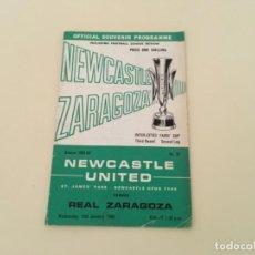 Coleccionismo deportivo: PROGRAMA EUROPA FÚTBOL REAL ZARAGOZA NEWCASTLE UNITED 1969. Lote 235626540