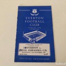 Coleccionismo deportivo: PROGRAMA EUROPA FÚTBOL ZARAGOZA EVERTON FOOTBALL CLUB 1966. Lote 235633235