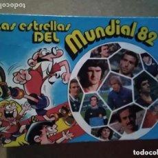 Coleccionismo deportivo: ALBUM FICHAS LAS ESTRELLAS DEL MUNDIAL ESPAÑA 82 BRUGUERA. Lote 235898240