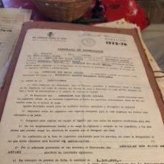 Coleccionismo deportivo: CONTRATO ORIGINAL DE BEN BAREK ENTRENADOR DEL ALAVES. Lote 236617100