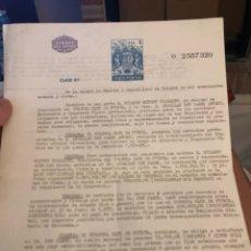 Coleccionismo deportivo: CONTRATO ORIGINAL DE BEN BAREK, ENTRENADOR DEL CORDOBA. Lote 236617535