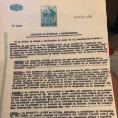 Coleccionismo deportivo: CONTRATO ORIGINAL DE BEN BAREK, ENTRENADOR DEL ALAVES. Lote 236617950