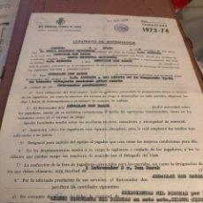 Coleccionismo deportivo: CONTRATO ORIGINAL DE BEN BAREK, ENTRENADOR DEL ALMERÍA. Lote 236618445