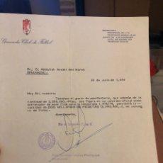 Coleccionismo deportivo: DOCUMENTO ORIGINAL DE LA FICHA DE BEN BAREK, ENTRENADOR DEL GRANADA. Lote 236619170